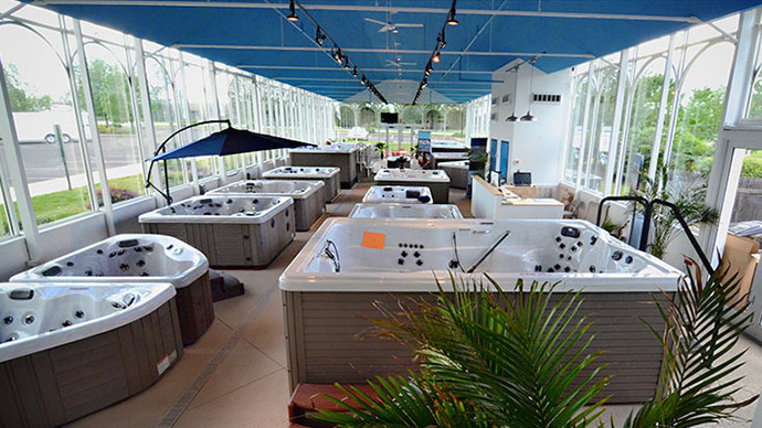 showroom hot tubs